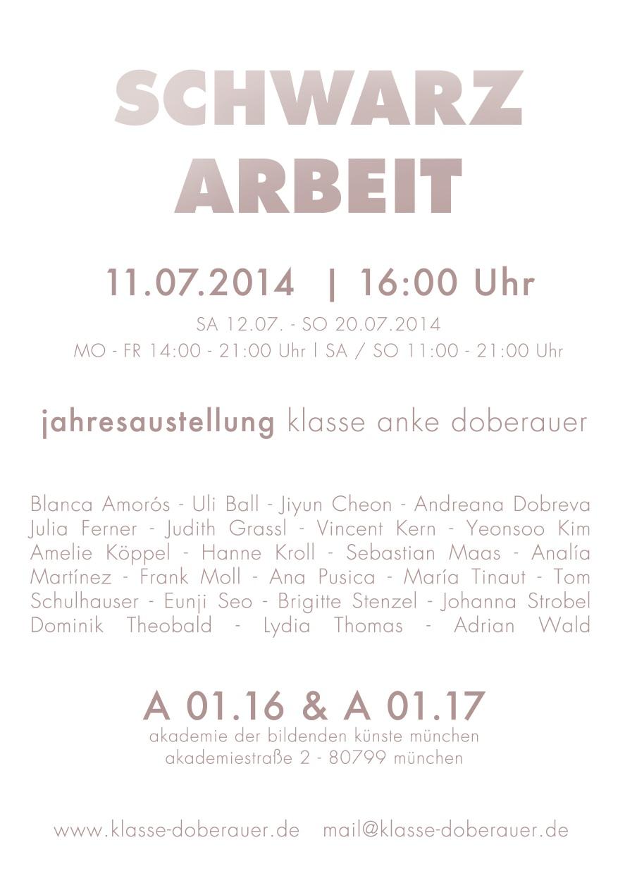 SCHWARZ ARBEIT. Exhibition